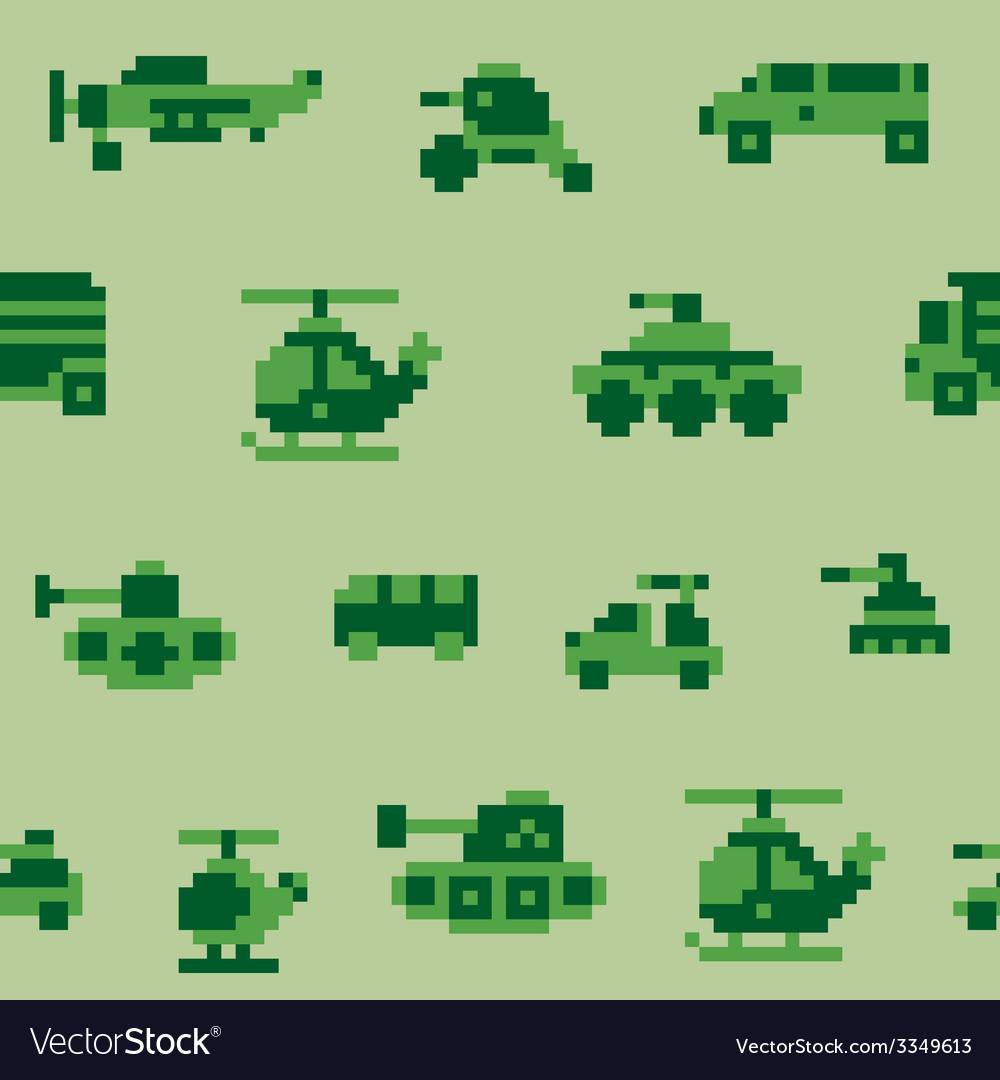 Pixel war pattern vector | Price: 1 Credit (USD $1)