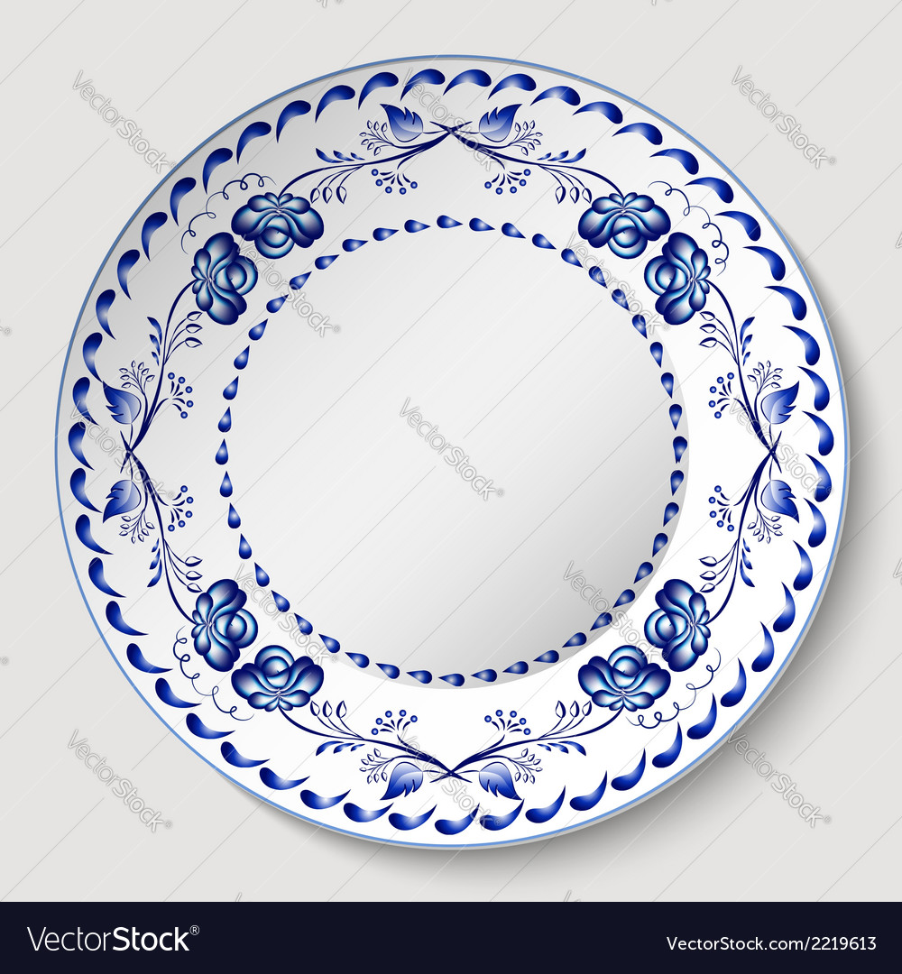 Russian national circular ornament with empty vector | Price: 1 Credit (USD $1)