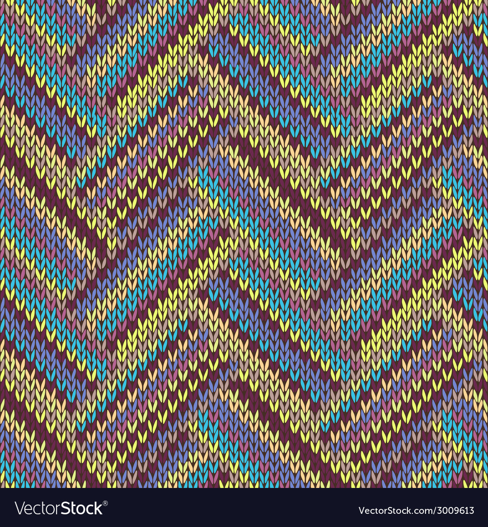 Seamless knitted pattern multicolored template vector | Price: 1 Credit (USD $1)