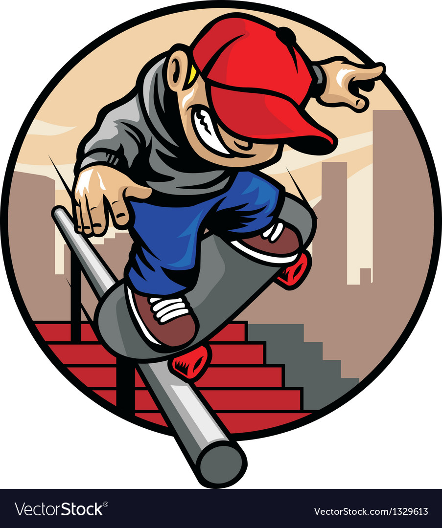 Skater boy doing trick vector | Price: 5 Credit (USD $5)