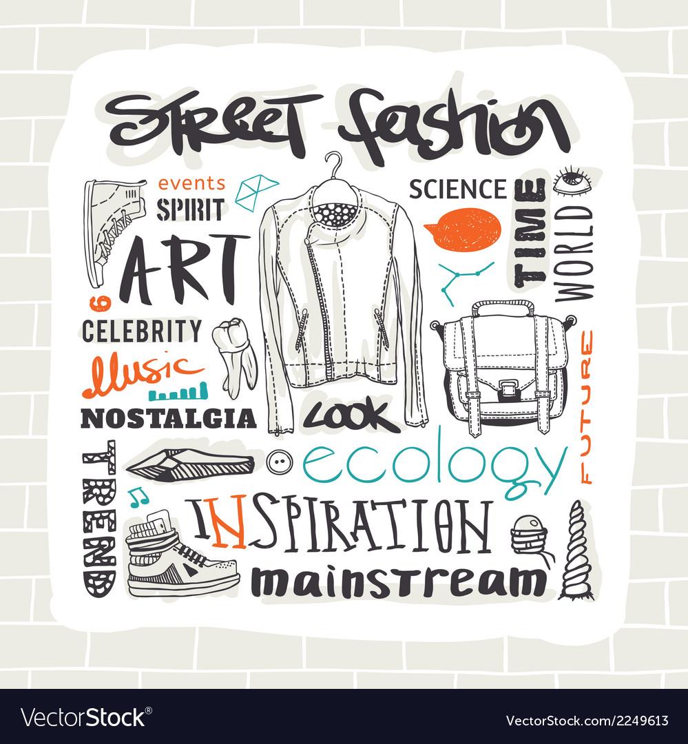 Street fashion set vector | Price: 1 Credit (USD $1)