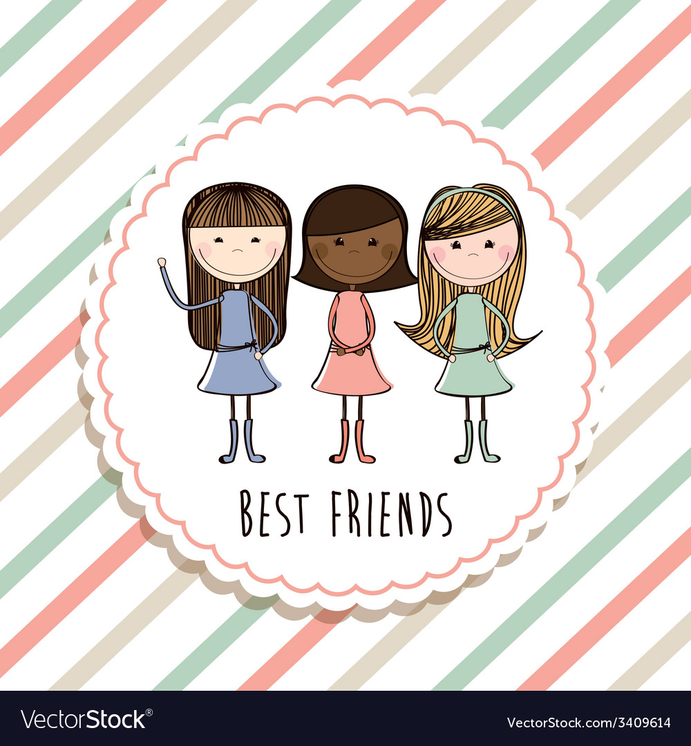 Best friends design vector | Price: 1 Credit (USD $1)