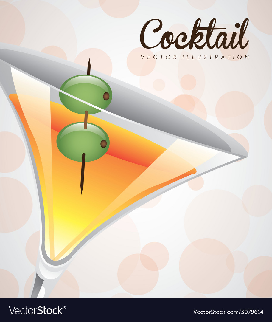 Cocktail design vector | Price: 1 Credit (USD $1)
