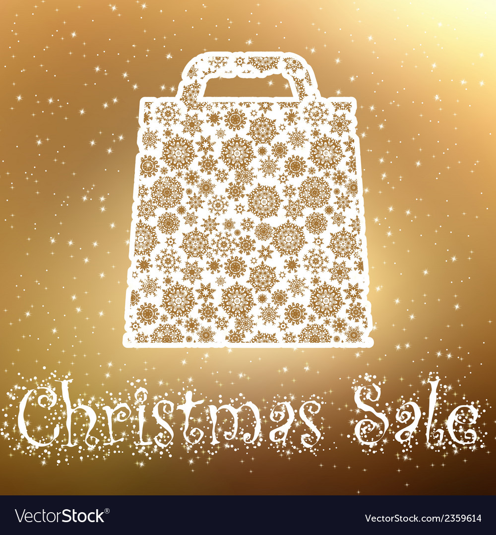Gold christmas sale background eps 8 vector | Price: 1 Credit (USD $1)