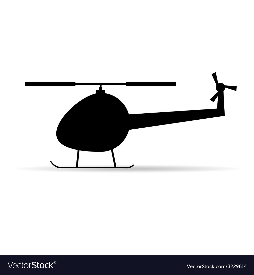 Helicopter black icon silhouette vector | Price: 1 Credit (USD $1)