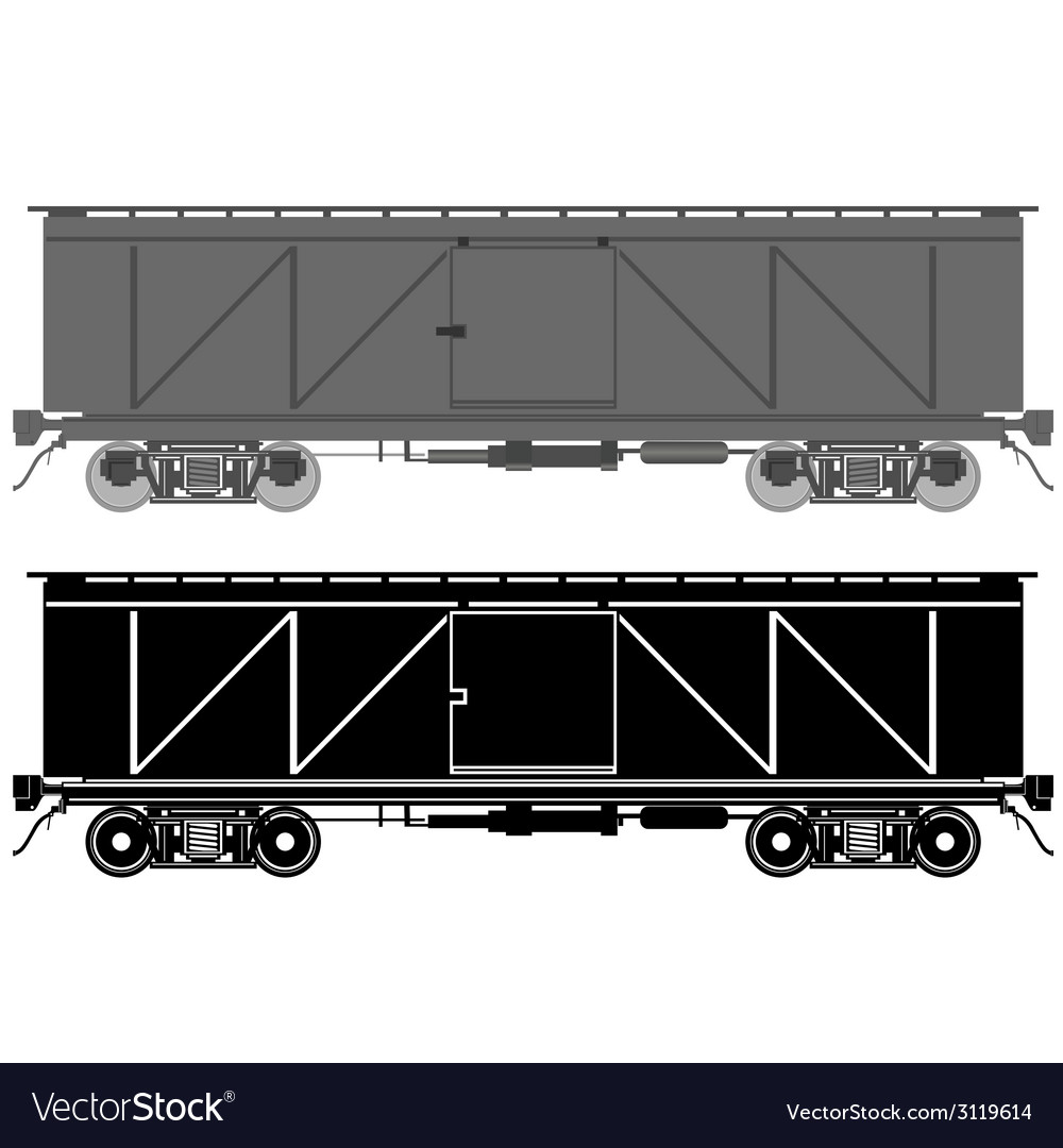 Railway wagon vector | Price: 1 Credit (USD $1)