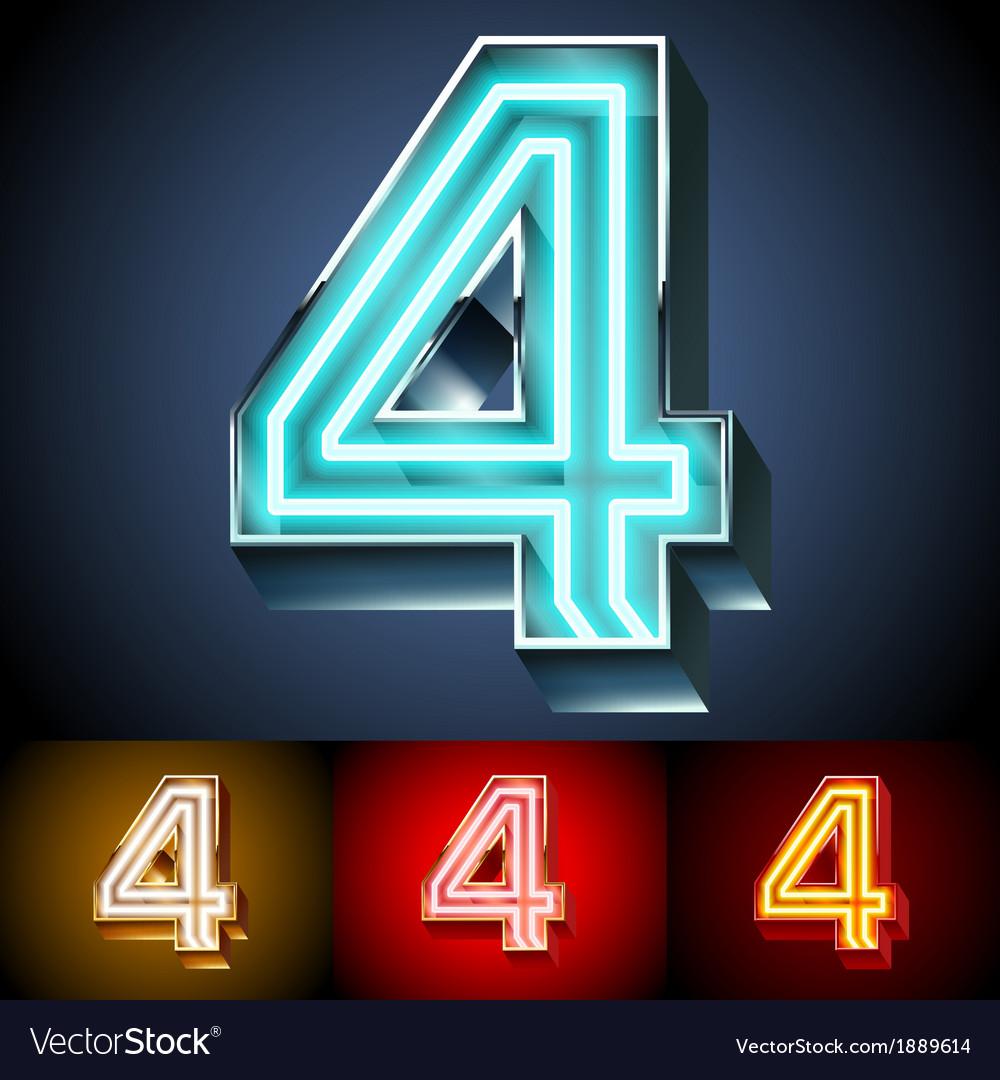 Realistic neon tube alphabet for light board vector | Price: 1 Credit (USD $1)