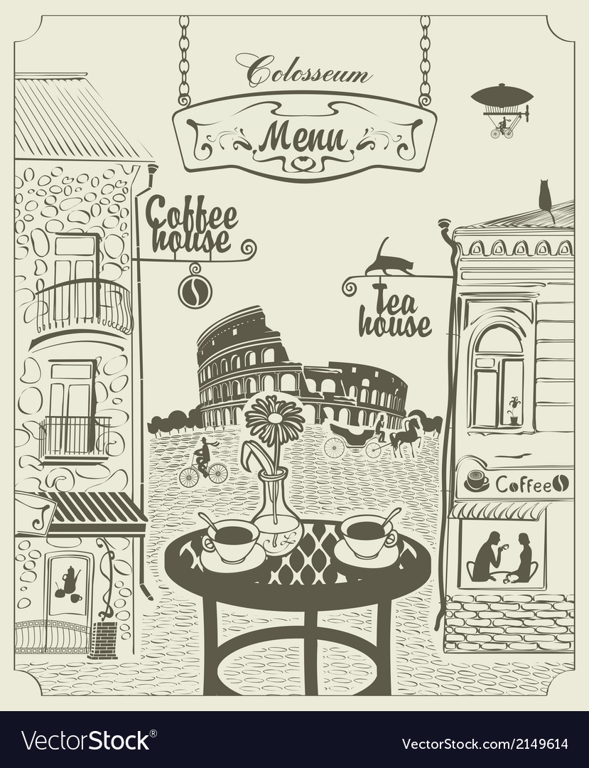 Rome cafe vector | Price: 3 Credit (USD $3)