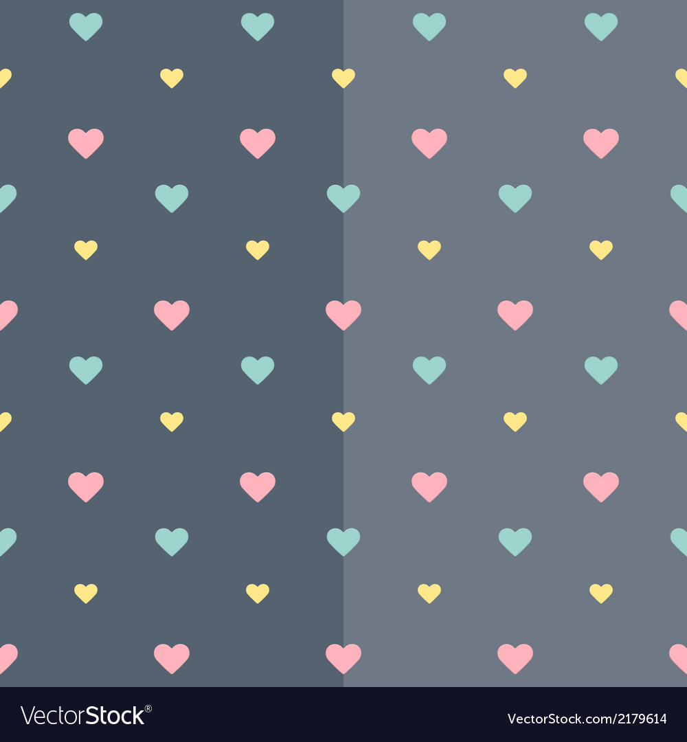 Seamless colorful heart blue pattern vector | Price: 1 Credit (USD $1)