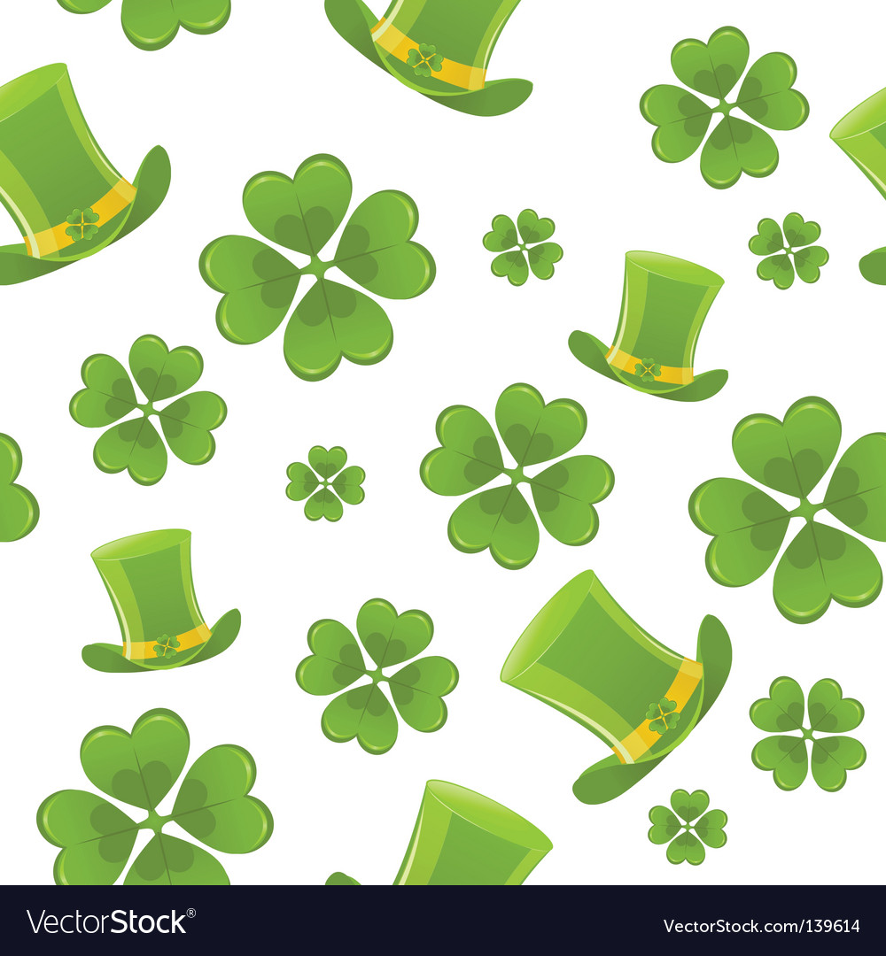 Seamless st patricks day background vector