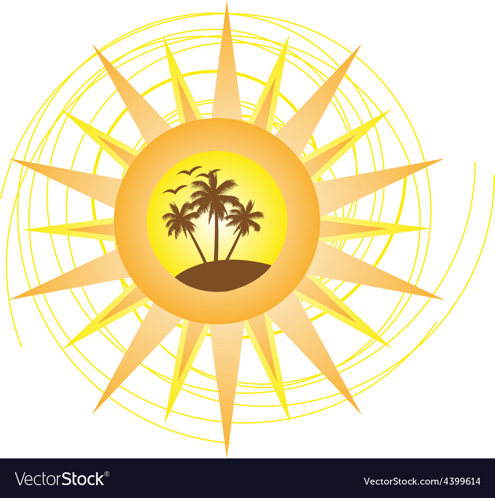 Summer logo sign vector | Price: 3 Credit (USD $3)