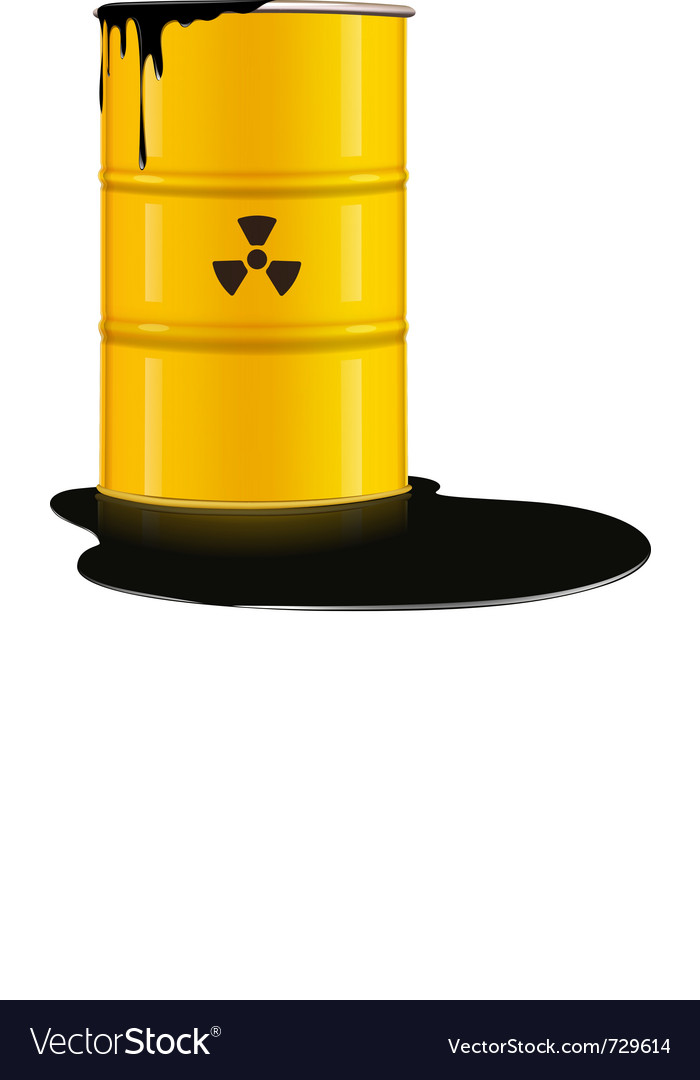 Yellow metal barrel vector | Price: 1 Credit (USD $1)