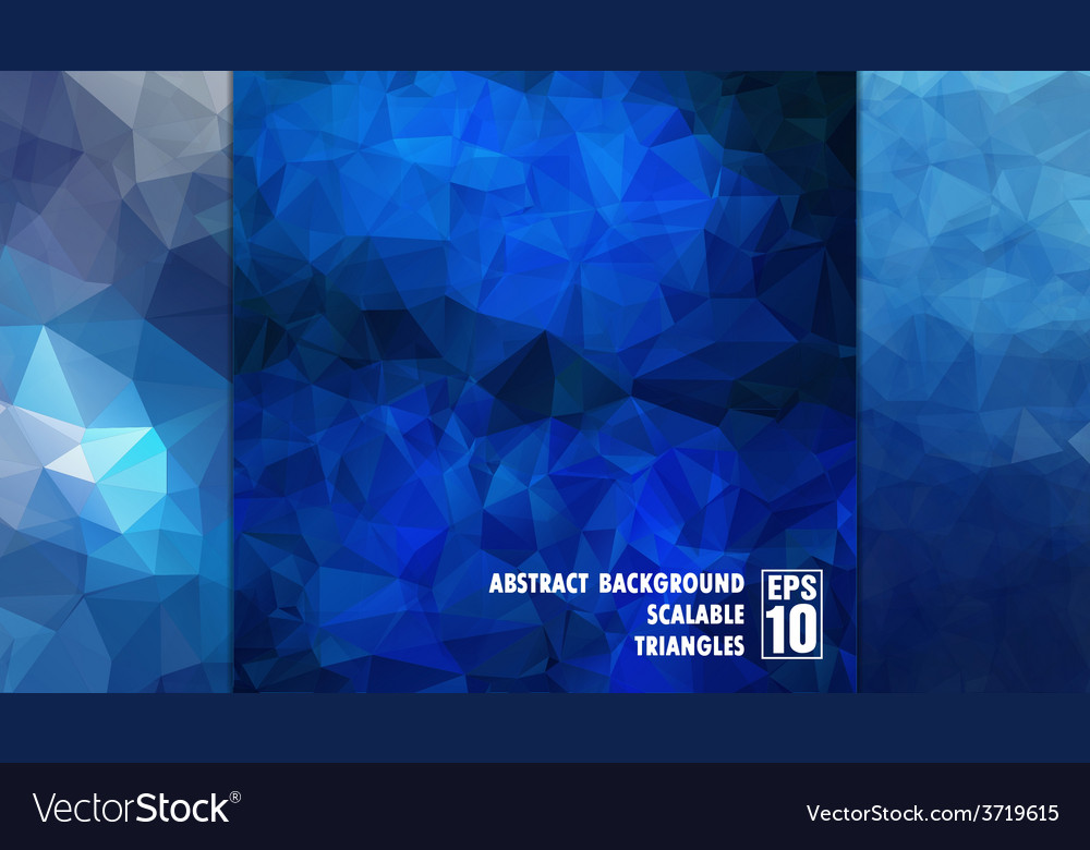 Abstract geometric background of triangles in blue vector | Price: 1 Credit (USD $1)
