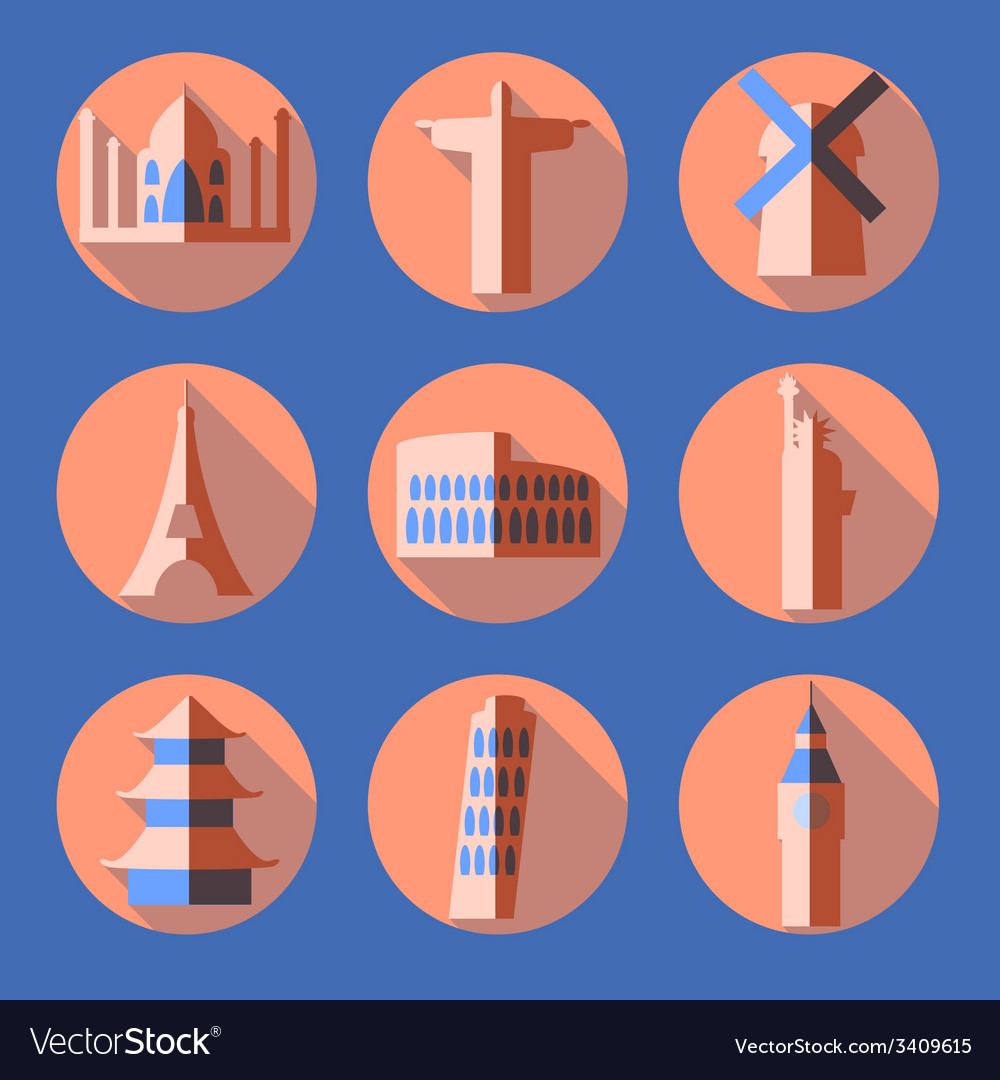 Flat architecture icons vector | Price: 1 Credit (USD $1)