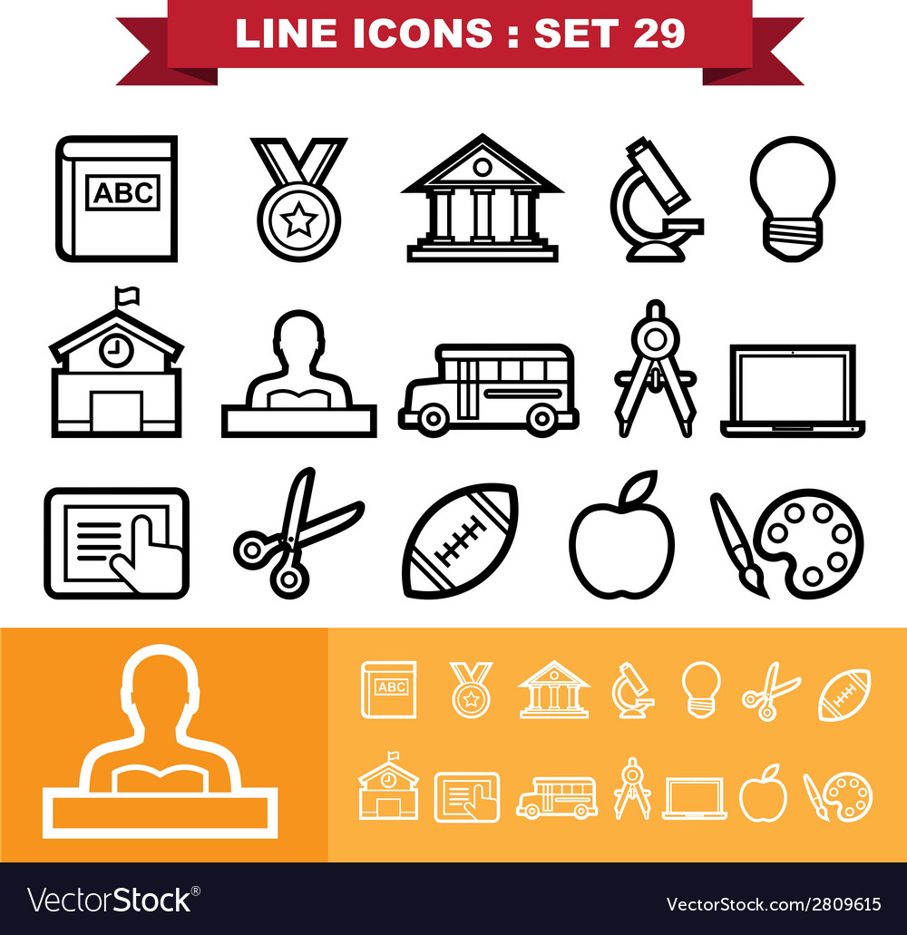 Line icons set 29 vector | Price: 1 Credit (USD $1)