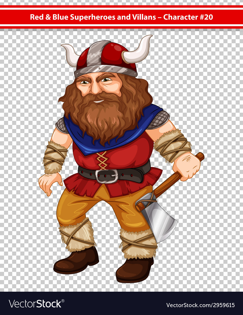 Male viking vector | Price: 1 Credit (USD $1)