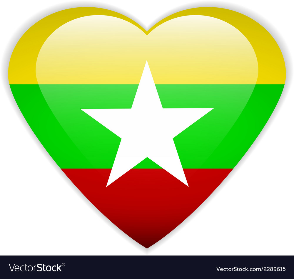 Myanmar flag button vector | Price: 1 Credit (USD $1)