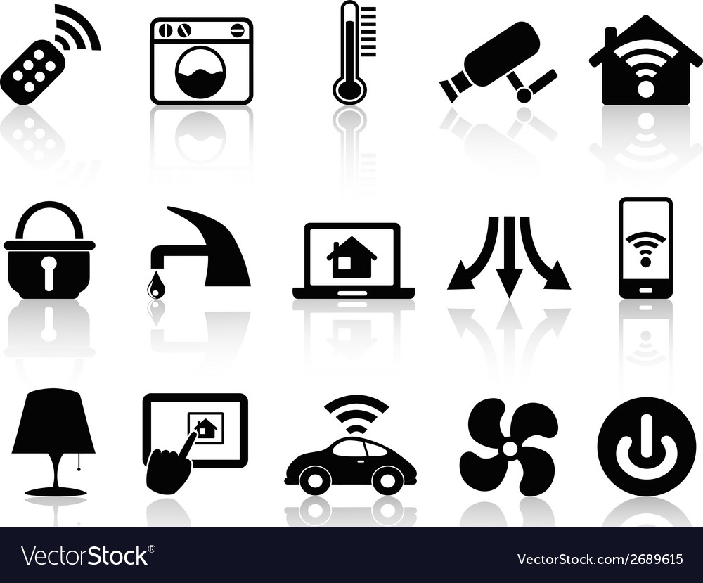 Smart house icons set vector | Price: 1 Credit (USD $1)