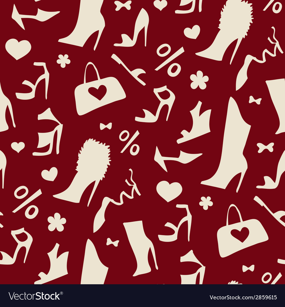 Women shoes seamless pattern vector | Price: 1 Credit (USD $1)