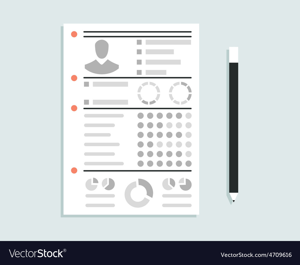Business resume with personal information vector