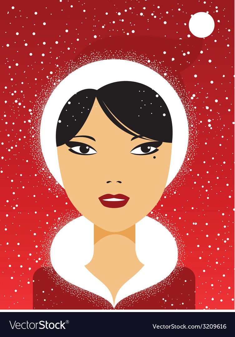 Christmas girl vector | Price: 1 Credit (USD $1)
