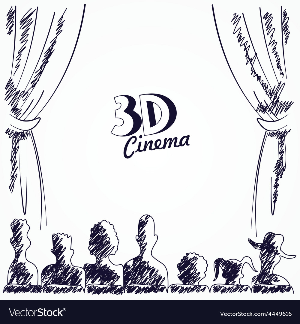 Cinema audience back view vector | Price: 1 Credit (USD $1)