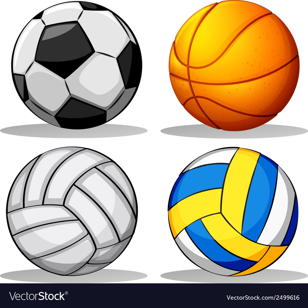 Different balls used in sports vector | Price: 1 Credit (USD $1)