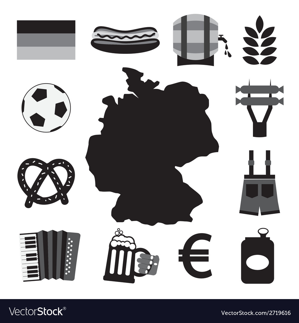 Germany icons set vector | Price: 1 Credit (USD $1)