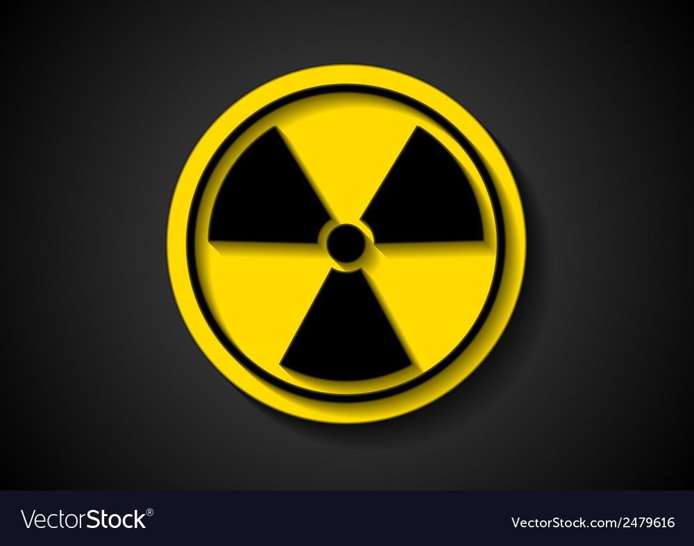 Nuclear radiation symbol vector | Price: 1 Credit (USD $1)