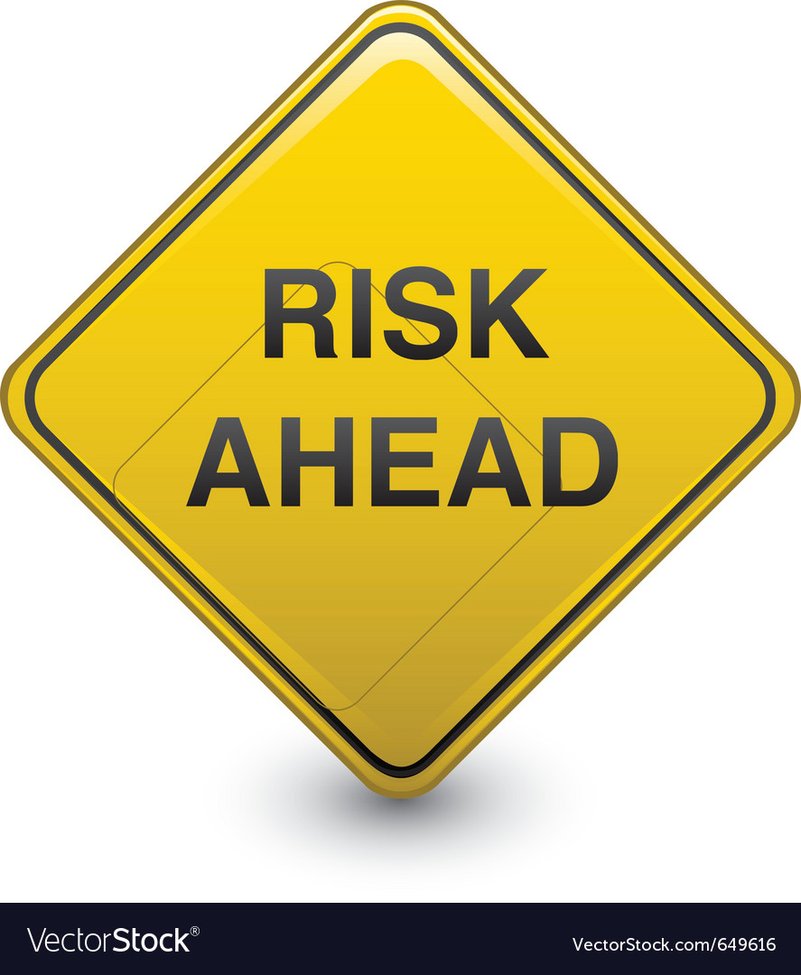 Warning sign risk vector | Price: 1 Credit (USD $1)