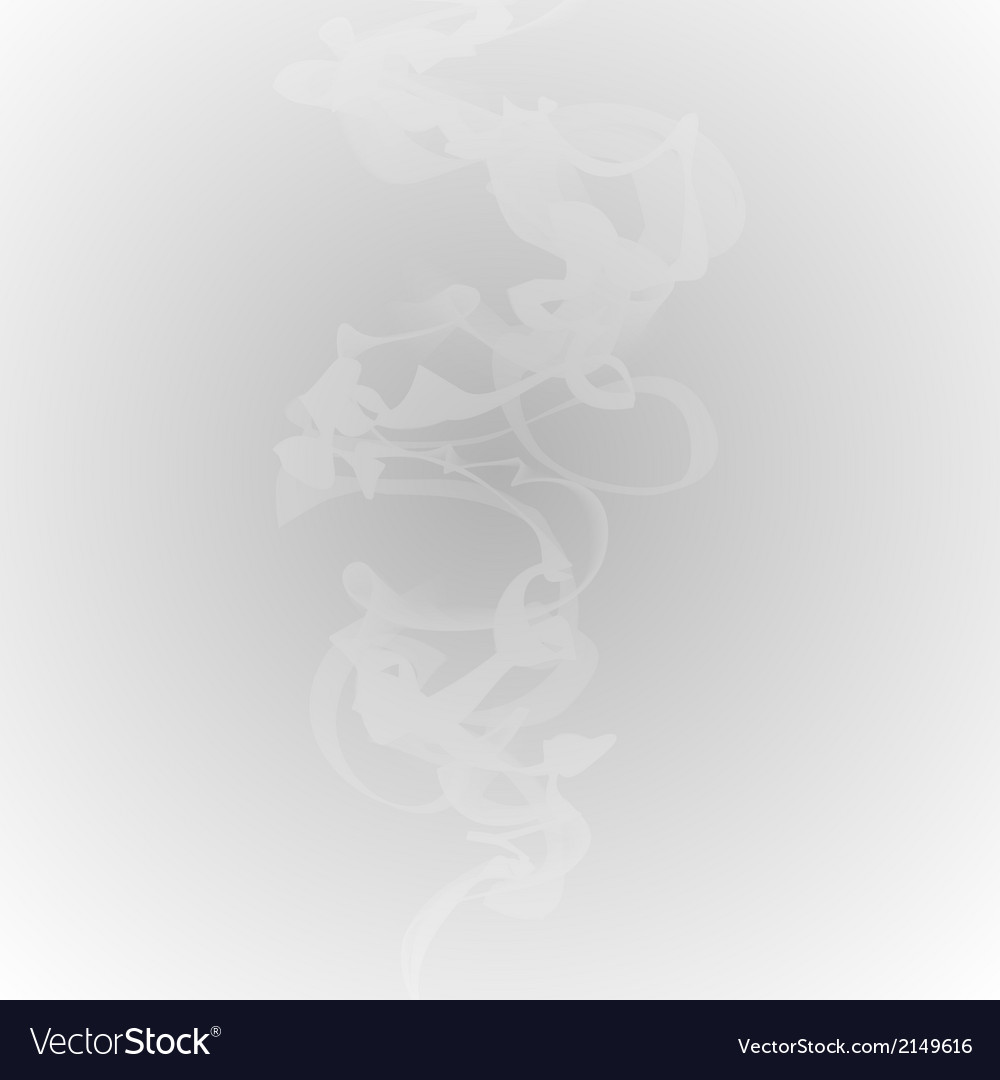 White smoke on a gray background vector | Price: 1 Credit (USD $1)