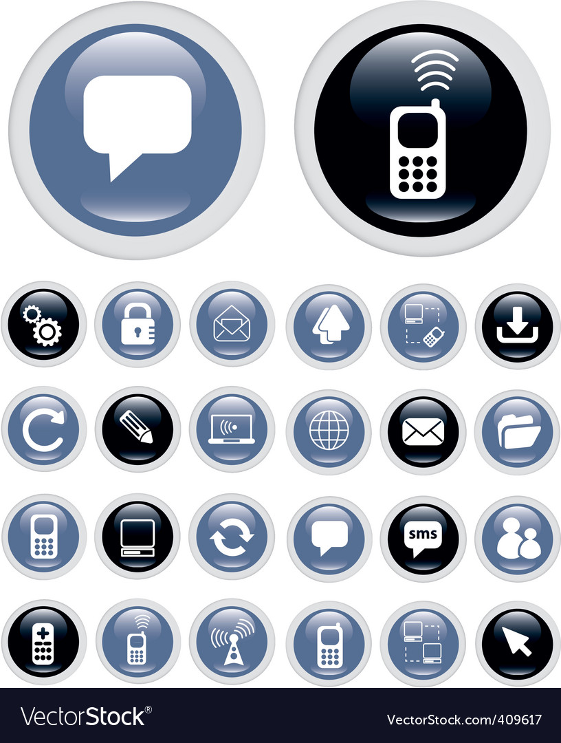 Business technology icons vector | Price: 1 Credit (USD $1)