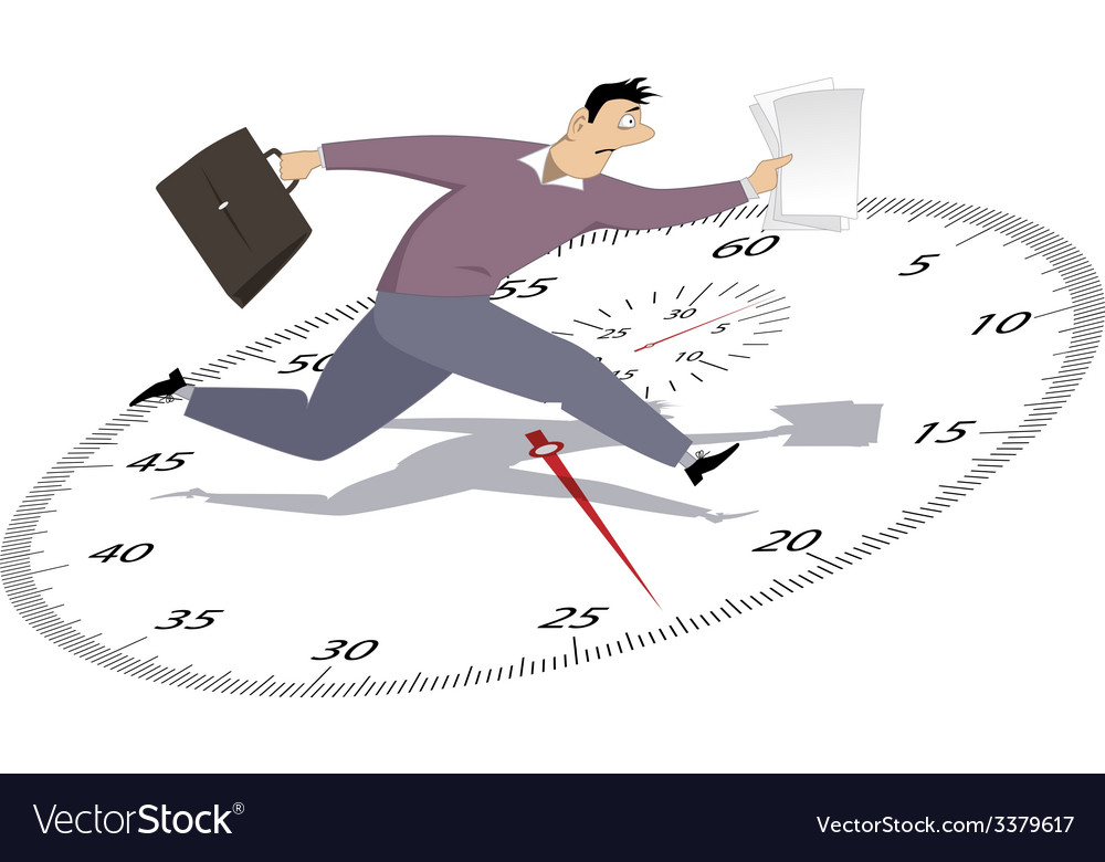 Businessman in a hurry vector | Price: 1 Credit (USD $1)