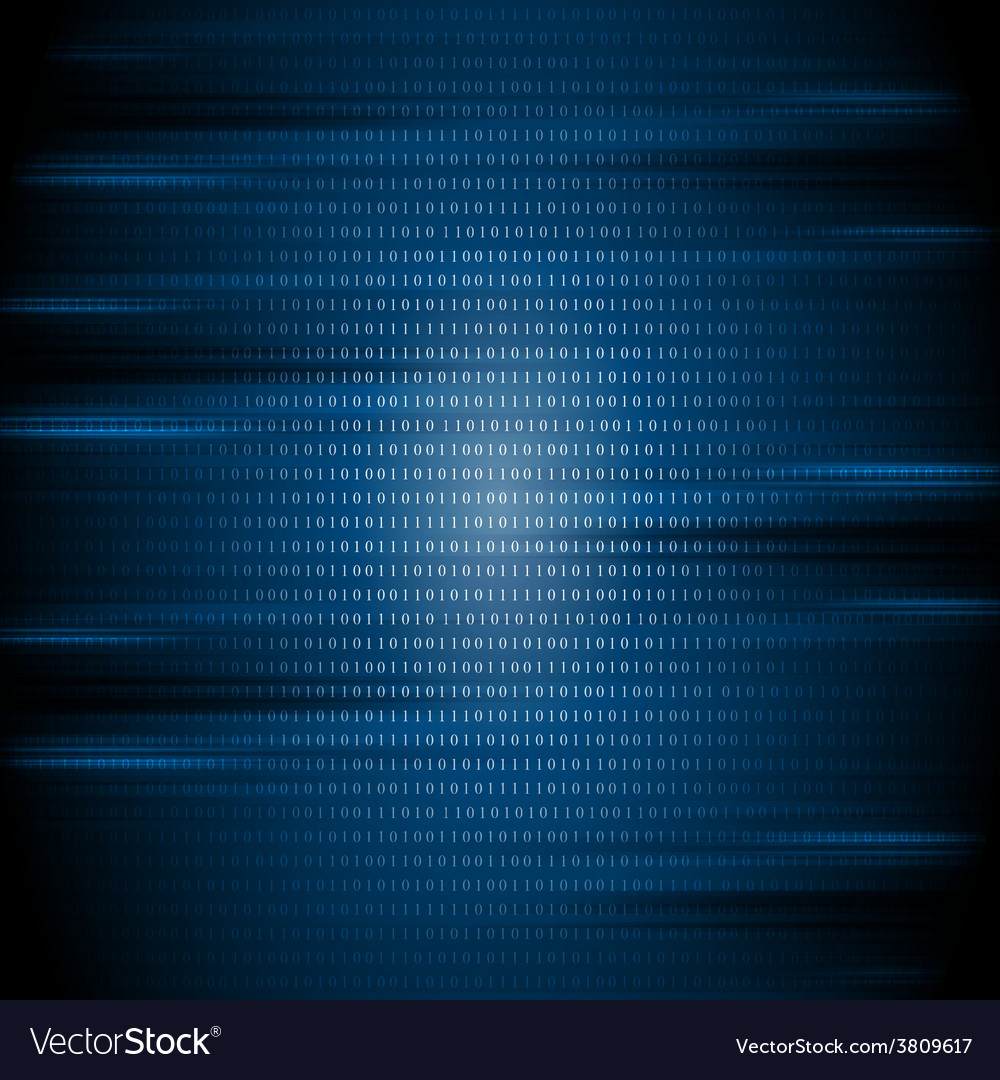 Dark blue binary code tech background vector | Price: 1 Credit (USD $1)