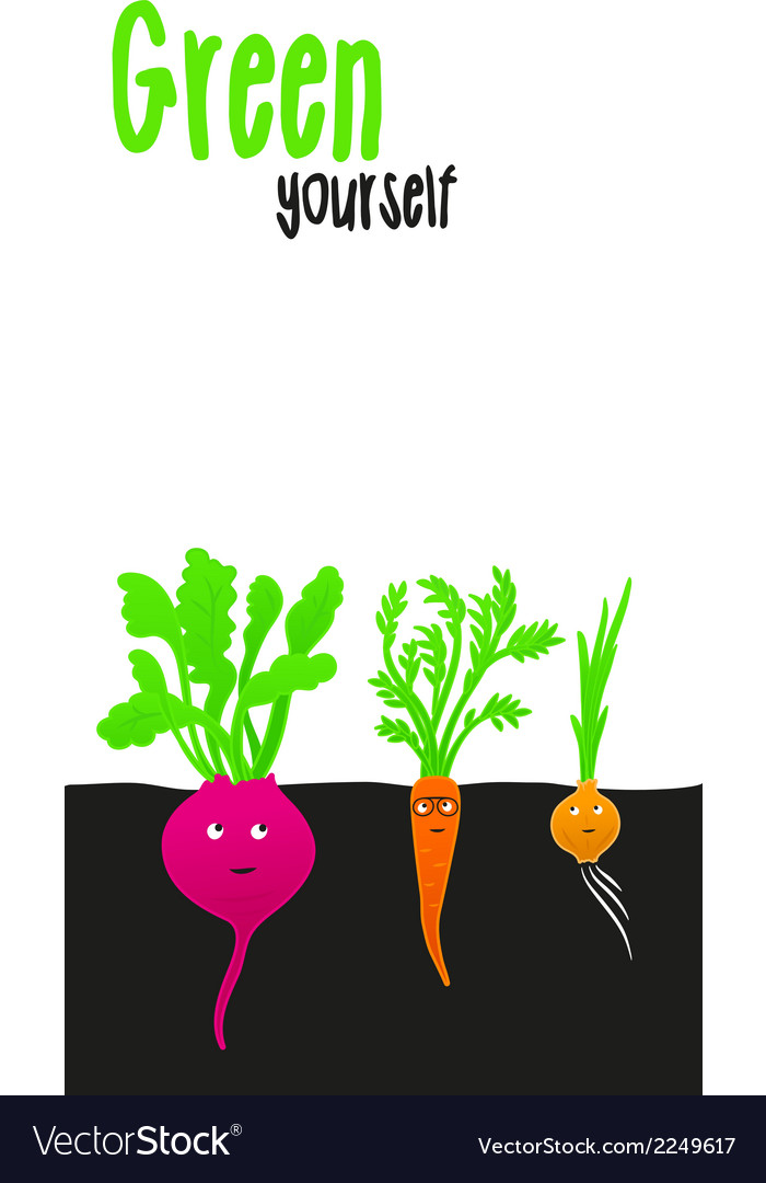 Funny vegetables vector   Price: 1 Credit (USD $1)