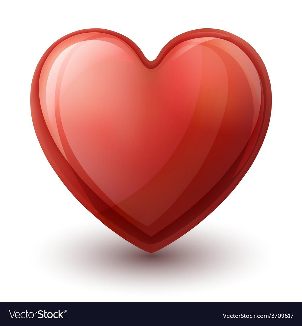 Glassy heart symbol vector   Price: 1 Credit (USD $1)