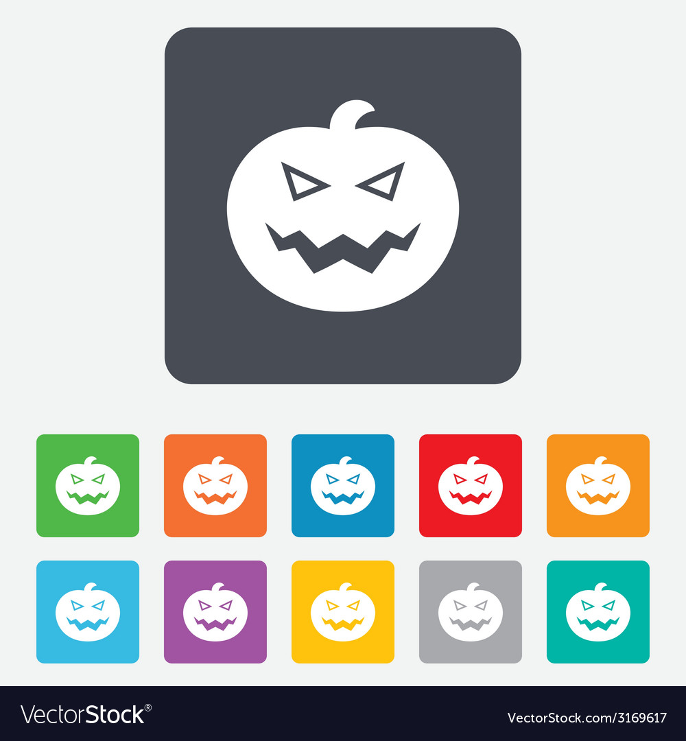 Halloween pumpkin sign icon halloween party vector | Price: 1 Credit (USD $1)