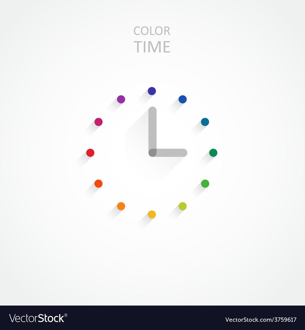 Minimalist color clock vector | Price: 1 Credit (USD $1)