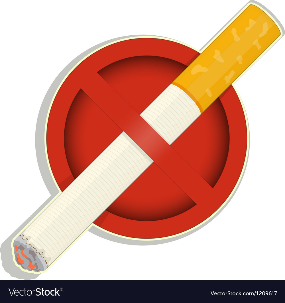 No smoking sign on white background vector | Price: 1 Credit (USD $1)