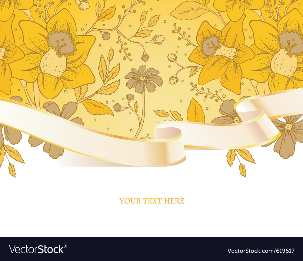 Ribbon floral vector | Price: 3 Credit (USD $3)