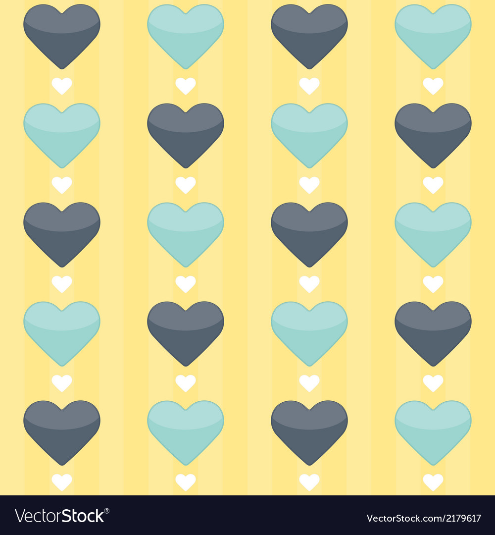 Seamless pattern with blue and mint hearts on a vector | Price: 1 Credit (USD $1)