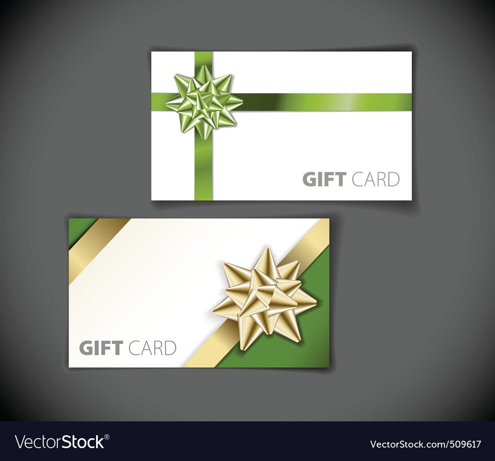 Set of modern gift card templates vector