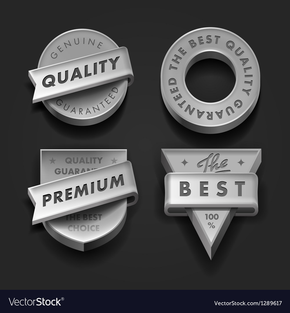 Set premium quality and guarantee labels vector | Price: 1 Credit (USD $1)