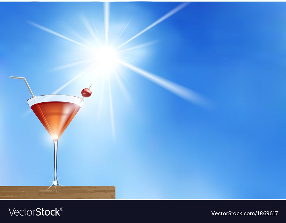 Summer cocktail vector   Price: 1 Credit (USD $1)