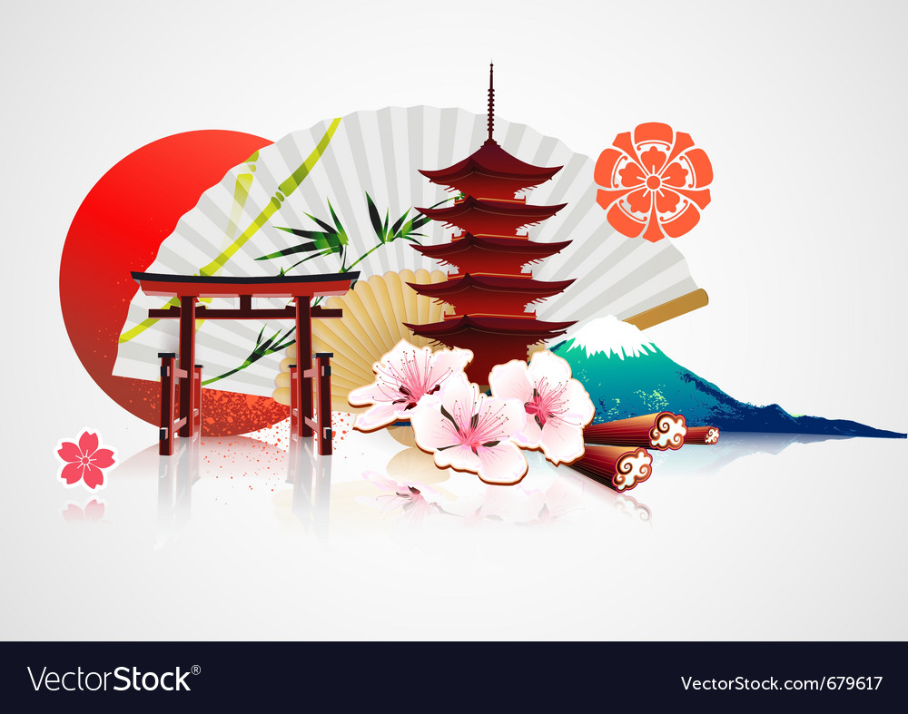 Traditional japanese background vector | Price: 3 Credit (USD $3)