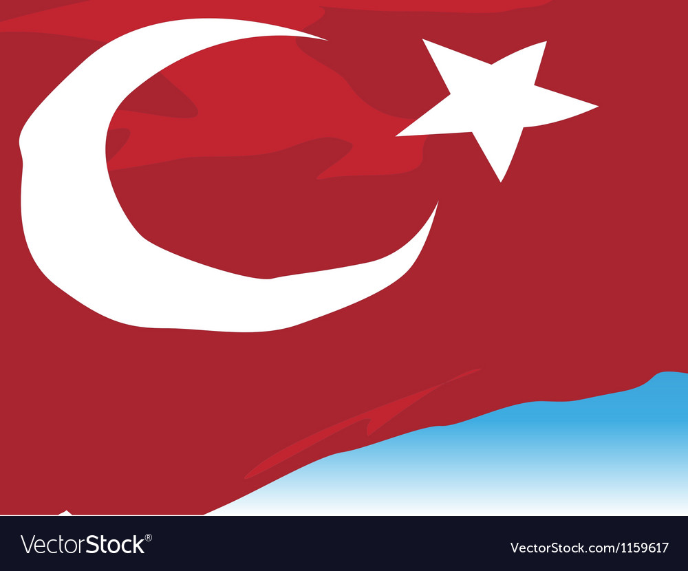 Turkish flag vector | Price: 1 Credit (USD $1)