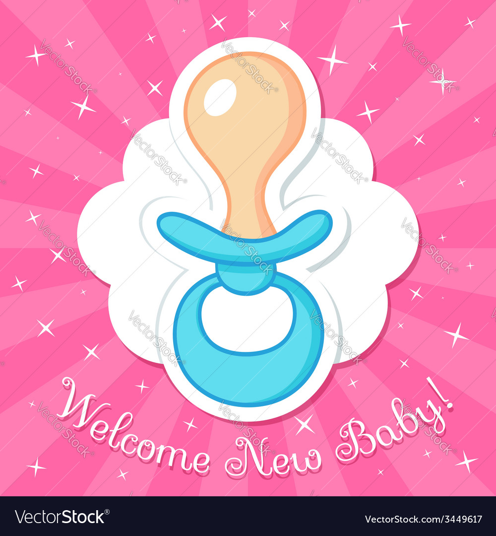 Welcome baby card vector   Price: 1 Credit (USD $1)