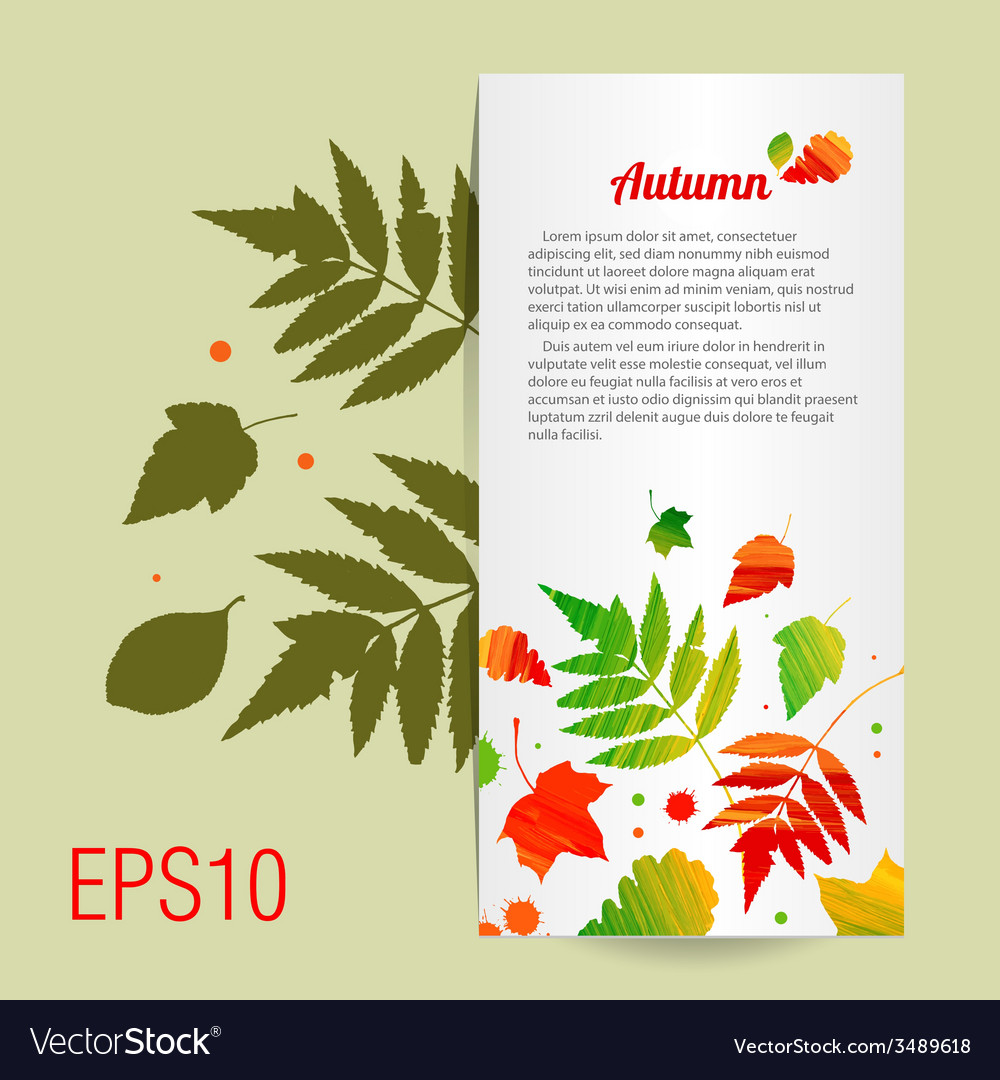 Acrylic colorful background with leafs vector | Price: 1 Credit (USD $1)