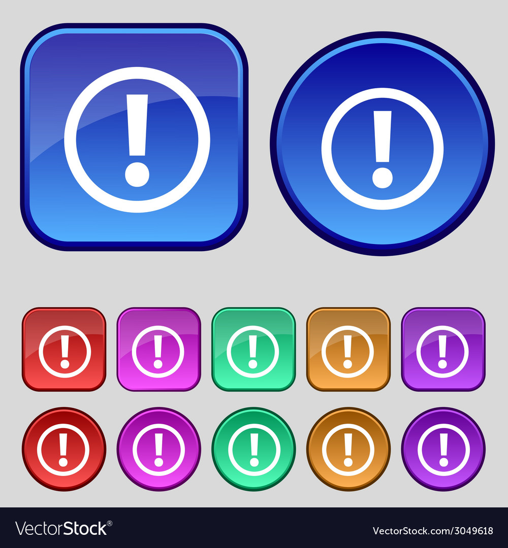 Attention sign icon exclamation mark hazard vector   Price: 1 Credit (USD $1)