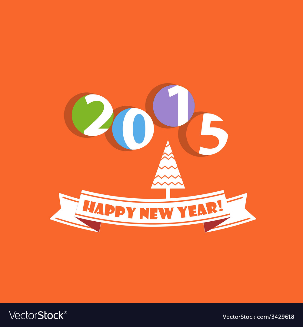 Happy new year greeting card vector | Price: 1 Credit (USD $1)